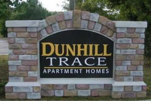 monument sign for Dunhill Trace