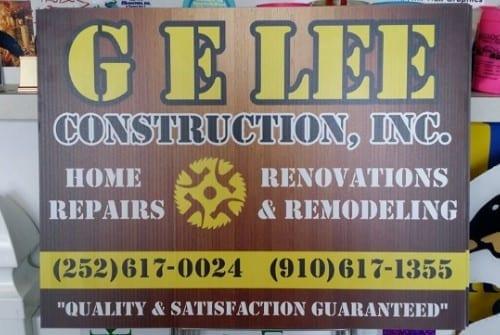yard sign for GE Lee