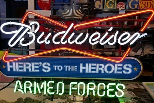 armed forces led sign