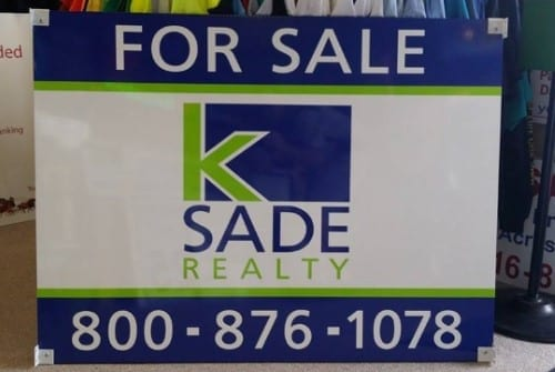 K Sade Realtor Sign