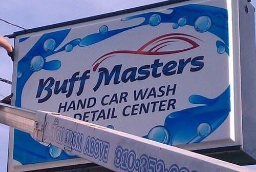 buff master car wash sign