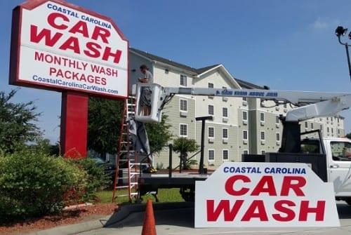 coastal carolina car wash sign