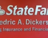 state farm red wall sign